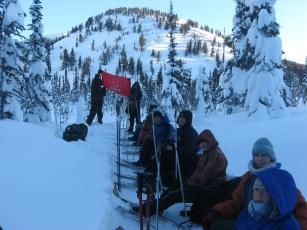 На лыжном маршруте